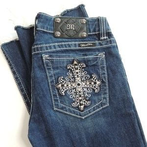 Miss Me Jeans Distressed Cross